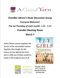 A Good Yarn Book Discussion @ Chandler Library | Chandler | Indiana | United States