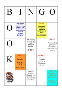 Spring Book Bingo @ Chandler Library | Chandler | Indiana | United States
