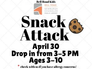 Snack Attack, ages 3-10 (drop in event) @ Bell Road Children's Department | Newburgh | Indiana | United States