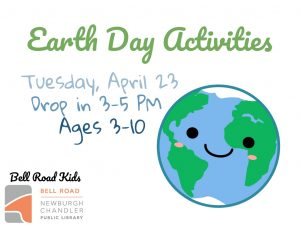Earth Day Activities, ages 3-10 (drop in event) @ Bell Road Children's Department | Newburgh | Indiana | United States