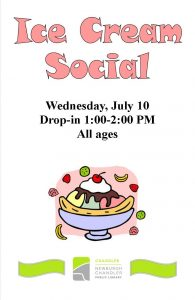 Ice Cream Social, all ages @ Chandler Library | Chandler | Indiana | United States