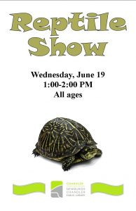 Reptile Show, all ages @ Chandler Library | Chandler | Indiana | United States