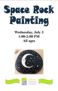 Space Rock Painting, all ages @ Chandler Library | Chandler | Indiana | United States