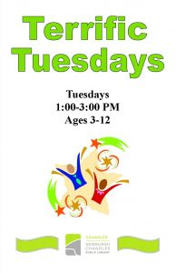 Terrific Tuesdays, ages 3-12 @ Chandler Library | Chandler | Indiana | United States