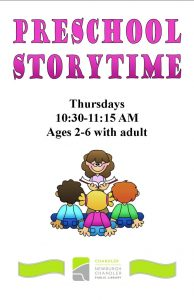 Pre-School Storytime, ages 2-6 @ Chandler Library | Chandler | Indiana | United States