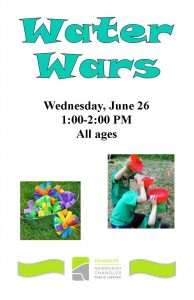 Water Wars, ages 3-12 @ Chandler Library | Chandler | Indiana | United States