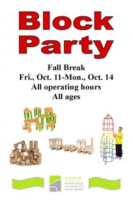 Block Party, ages 3-12 @ Chandler Library | Chandler | Indiana | United States