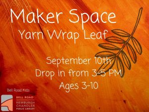 Maker Space, ages 3-10 (drop in event) @ Bell Road Children's Department | Newburgh | Indiana | United States