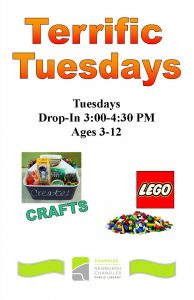 Terrific Tuesday, ages 3-12 @ Chandler Library | Chandler | Indiana | United States