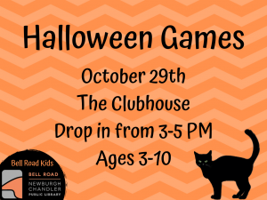 Halloween Games, Ages 3-10 (Drop-In Event) @ Bell Road Children's Department | Newburgh | Indiana | United States