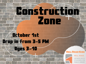 Construction Zone, Ages 3-10 (Drop-In Event) @ Bell Road Kids | Newburgh | Indiana | United States