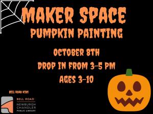 Maker Space Pumpkin Painting, Ages 3-10 (Drop-In Event) @ Bell Road Children's Department | Newburgh | Indiana | United States