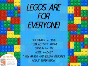 Legos Are For Everyone (drop in program), ages 4 and up @ Bell Road Children's Department | Newburgh | Indiana | United States