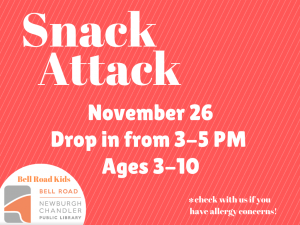 Snack Attack @ Newburgh Chandler Public Library | Newburgh | Indiana | United States