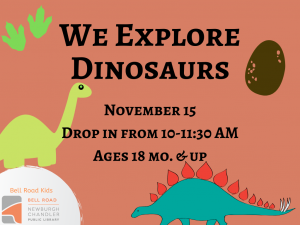 We Explore Dinosaurs @ Newburgh Chandler Public Library | Newburgh | Indiana | United States