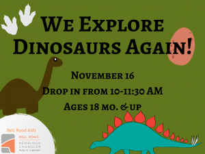 We Explore Dinosaurs Again! @ Newburgh Chandler Public Library | Newburgh | Indiana | United States
