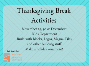 Thanksgiving Break Activities @ Newburgh Chandler Public Library | Newburgh | Indiana | United States