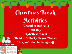 Christmas Break Activities @ Newburgh Chandler Public Library | Newburgh | Indiana | United States