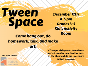 Tween Space @ Newburgh Chandler Public Library | Newburgh | Indiana | United States