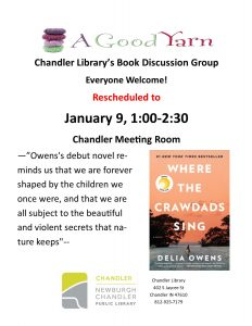 Adult Book Discussion @ Chandler Library | Chandler | Indiana | United States