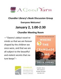Chandler Book Discussion @ Chandler Library | Chandler | Indiana | United States