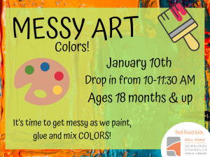 Messy Art-Colors @ Newburgh Chandler Public Library | Newburgh | Indiana | United States