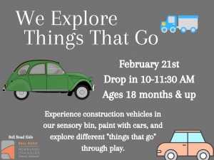 We Explore Things That Go @ Newburgh Chandler Public Library | Newburgh | Indiana | United States