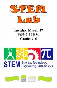 STEM Lab, grades 3rd-5th @ Chandler Library | Chandler | Indiana | United States