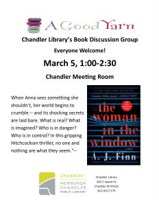 Book Discussion @ Chandler Library | Chandler | Indiana | United States