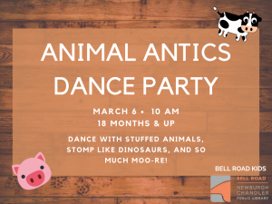 Animal Antics Dance Party @ Newburgh Chandler Public Library | Newburgh | Indiana | United States
