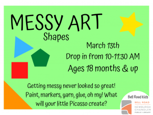 Messy Art-Shapes @ Newburgh Chandler Public Library | Newburgh | Indiana | United States